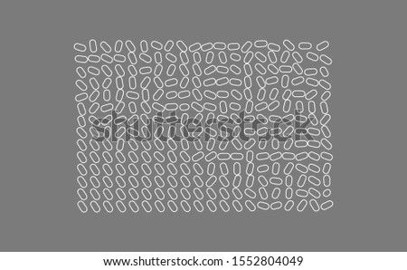 Black and white texture. Irregular array or matrix of random ovals. Vector illustration for print, textile, fabric, package, wrapping or cover.