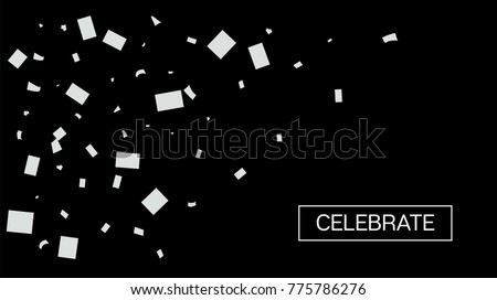 black and white tinsel rich confetti christmas birthday new year party background