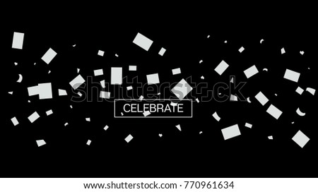 black and white tinsel rich confetti christmas birthday new year party celebration