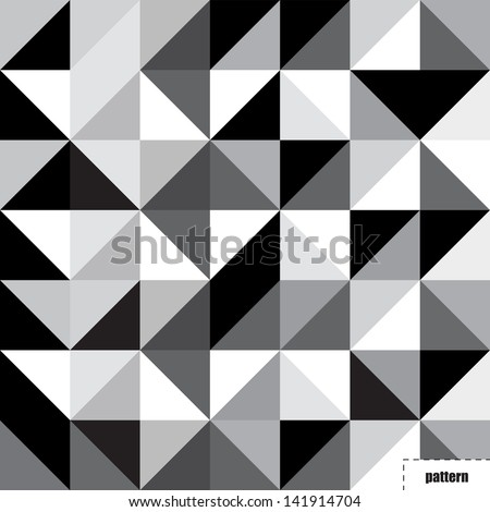 black and white triangle