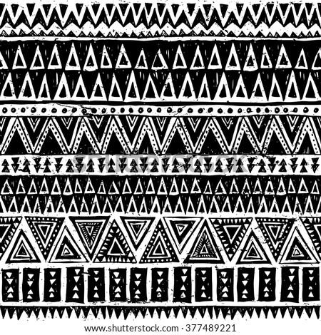 black and white tribal navajo