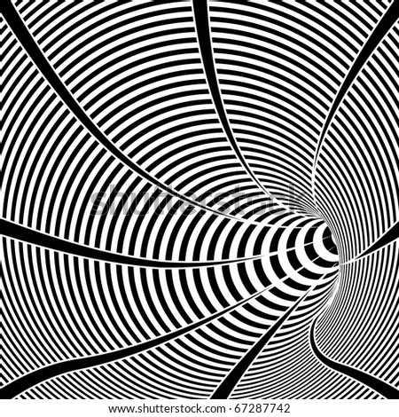 Black And White Tunnel Stock Vector Illustration 67287742 ...