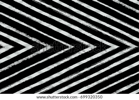 Black and white vector checked stripes pattern. Trendy hipster textile background. Retro vintage fabric stripy design. Grey scale paintbrush ink strokes. Funky graffiti painted grate checkered pattern