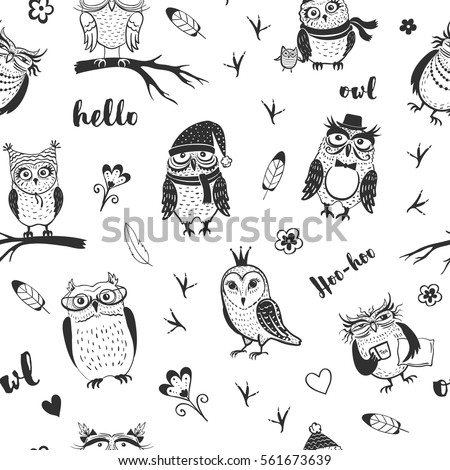 black and white vector cute