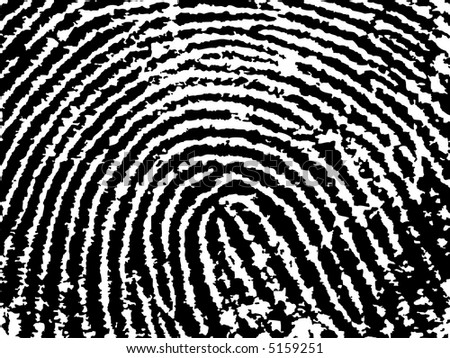 Black and White Vector Fingerprint Crop  - Low Poly Count