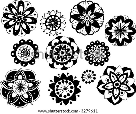 Flower Vector Black And White Black And White Vector Flowers
