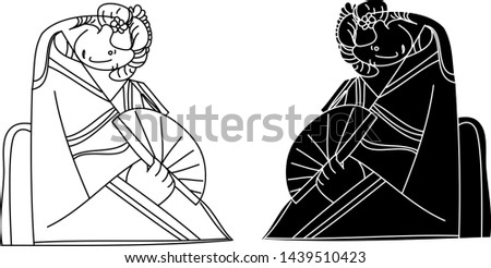 black and white vector