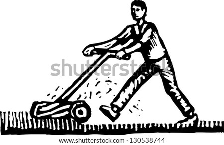 Lawn Mower Clipart Black And White Black and white vector