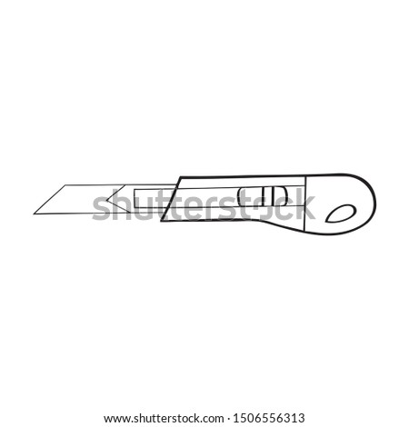 Black and white vector of a box knife