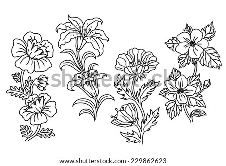 black and white vector outline
