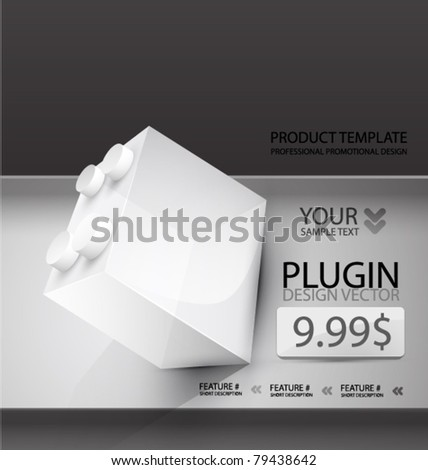 Black and white vector promotional template