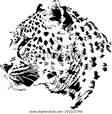 black and white vector sketch