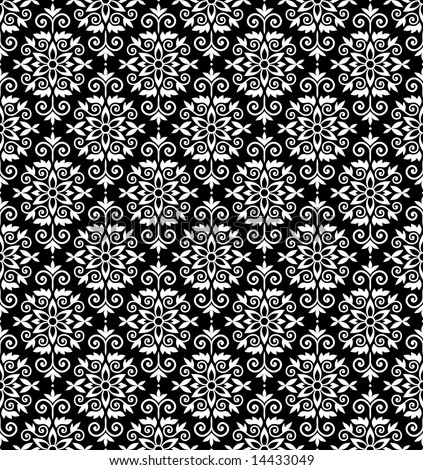 Black White Wallpapers. stock vector : Black and white