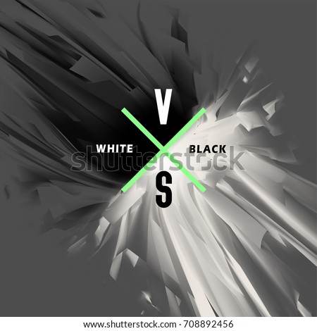 black and white versus abstract