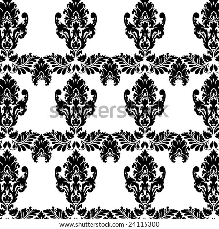 buy victorian wallpaper. stock vector : black and white vintage Victorian wallpaper