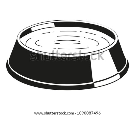 black and white water bowl