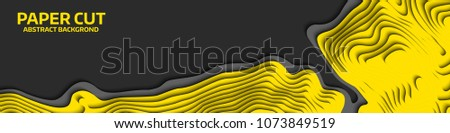 Black and white wave. Abstract paper cut. Abstract colorful waves. Wavy banners. Color geometric form. Wave paper cut. Map line of topography. Map mockup infographics. Vector illustration