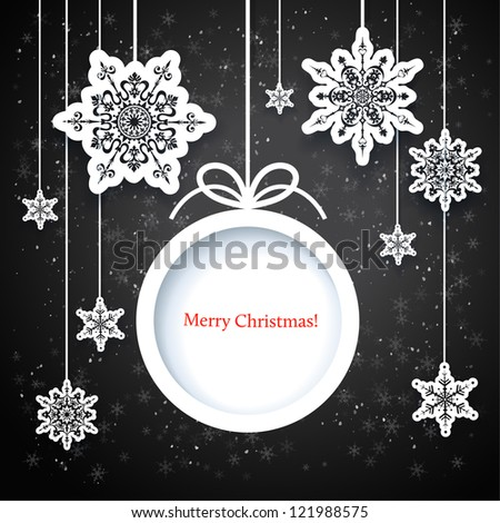 Black and white winter design with space for text