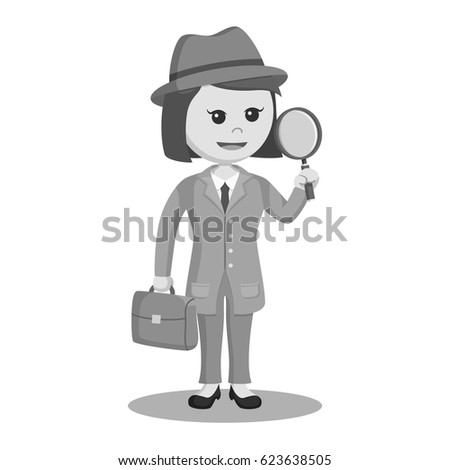 black and white woman spy