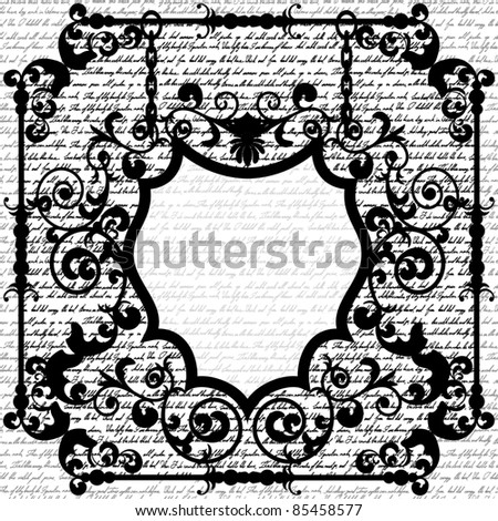 Black and white wrought frame for your text