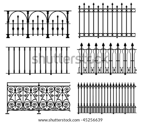 black and white wrought iron