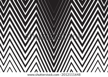 Black and White zigzag lines Background. Jagged stripes Stock foto ©
