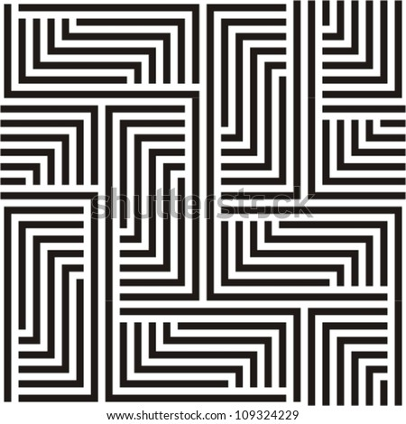 Black and white zigzag pattern - stock vector