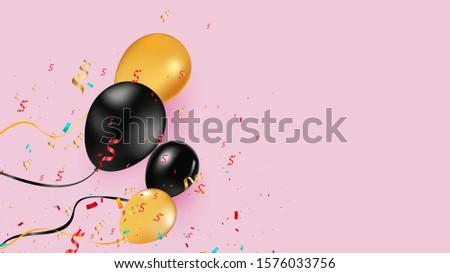 black and yellow helium