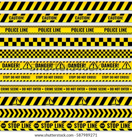 black and yellow police stripe