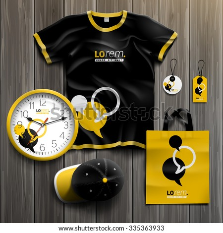 black and yellow promotional