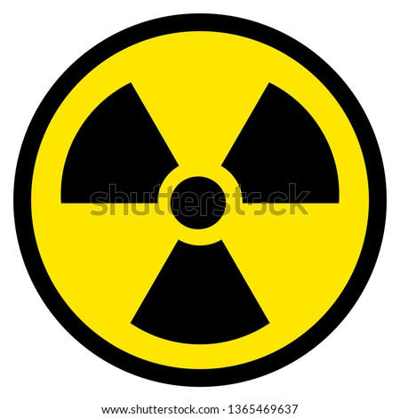 Black and yellow radioactive symbol