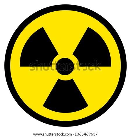Black and yellow radioactive symbol