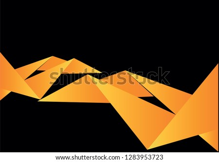 Black and yellow sport background, vector illustration Stockfoto ©