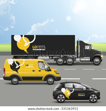 black and yellow transport