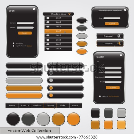 Black and Yellow Web Template