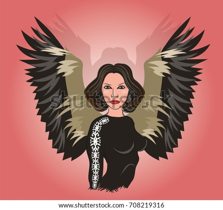 black angel in the image of a
