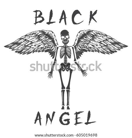 black angel like a skeleton