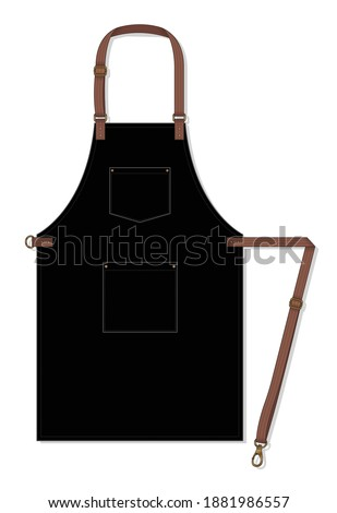black apron design with leather