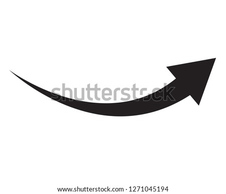 black arrow icon on white background. flat style. arrow icon for your web site design, logo, app, UI. arrow indicated the direction symbol. curved arrow sign.