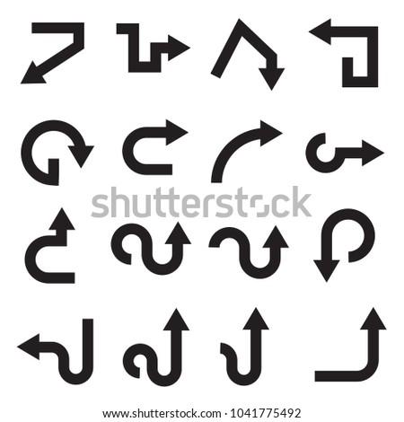 black arrows icons