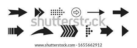 Black arrows set icons vector illustration