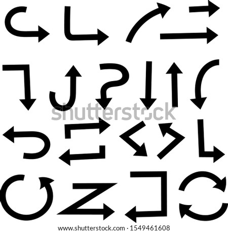 Black arrows set. Vector illustration isolated on white background #1549461608