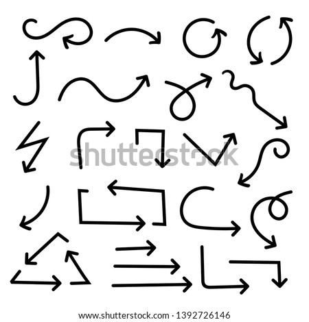 Black arrows. Vector illustration isolated on white background