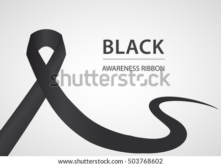 Black Ribbon Mourning Sign Download Free Vector Art Stock
