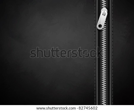 black background made of leather with a lock - stock vector