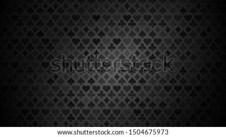 black background with card