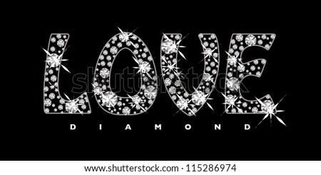 Word Black Background Black Background With Diamonds