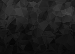 Black Background with Triangle Pattern