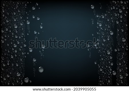 black background with water