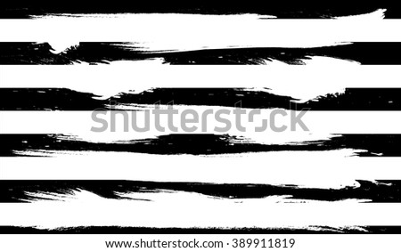 Black background with white stripes made with brush.Dry Brush Strokes. #389911819